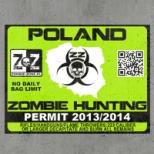 Naklejka - Pozwolenie na odstrzał Zombie