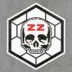 Naklejki - ZZ Hexagon Logo