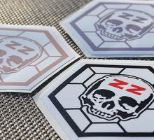 Wlepki – Cegiełki – ZZ Hexagon Logo